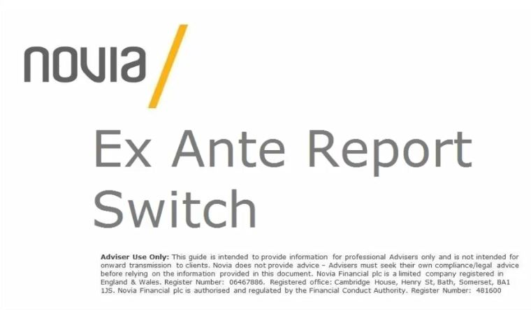 Create Ex Ante report for a switch