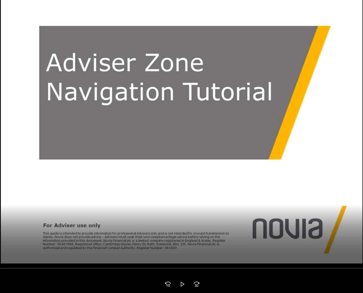 Adviser Zone Navigation