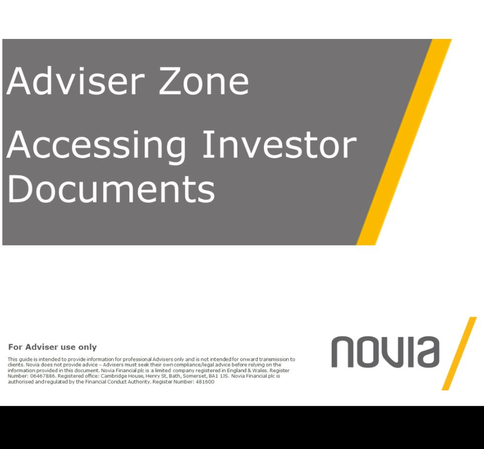 Accessing Investor Documents