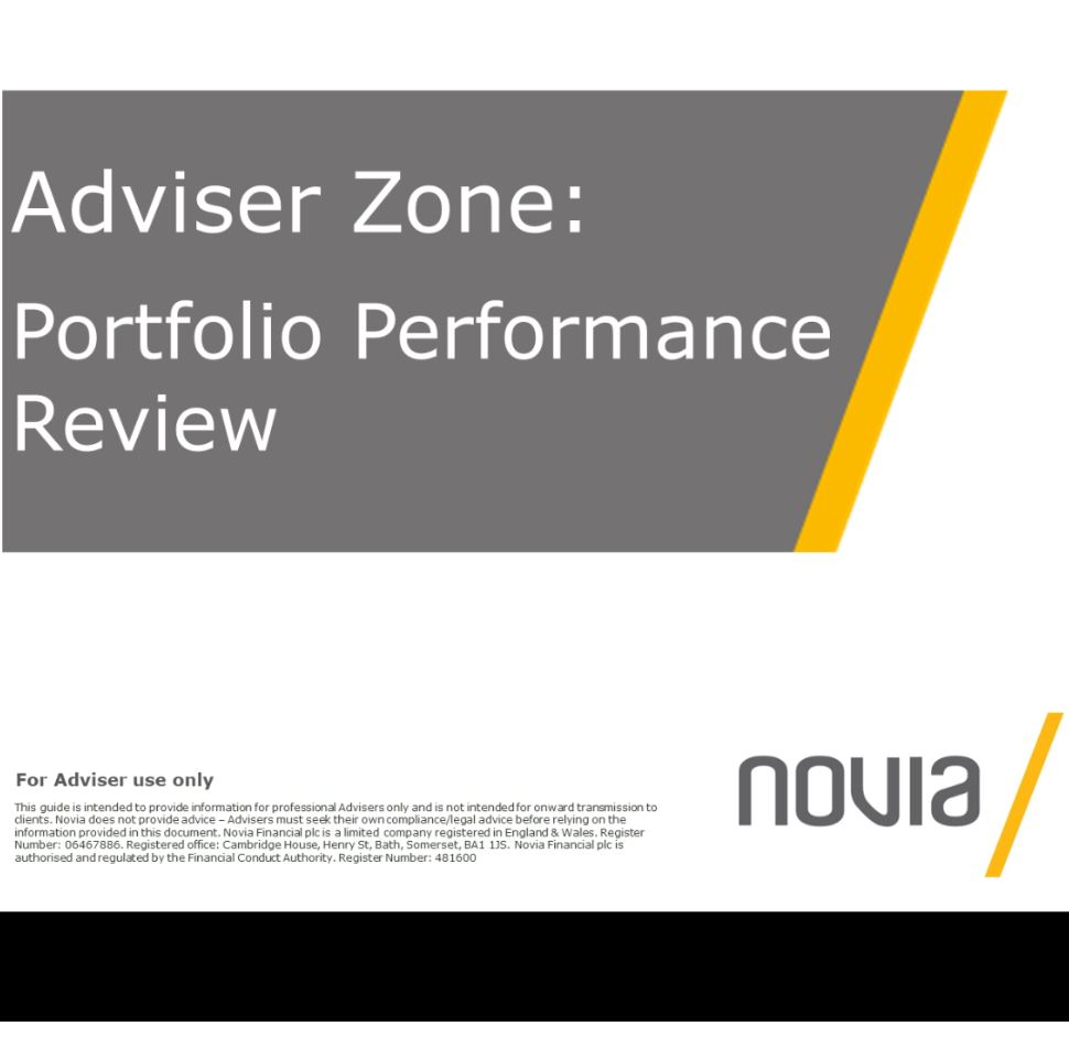 Portfolio Performance Review