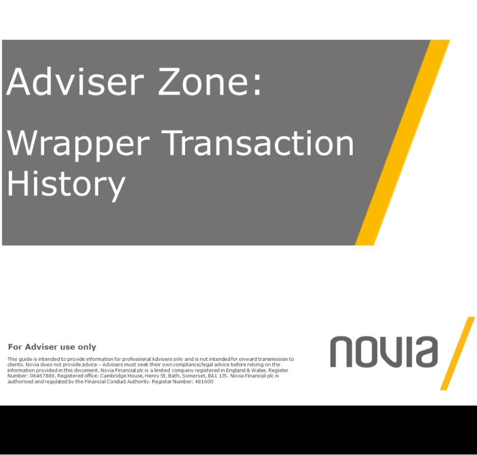 Wrapper Transaction History