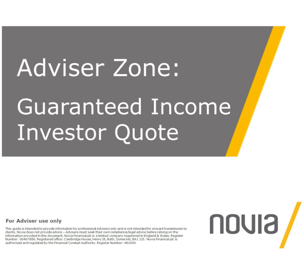 Guaranteed Income Investor Quote