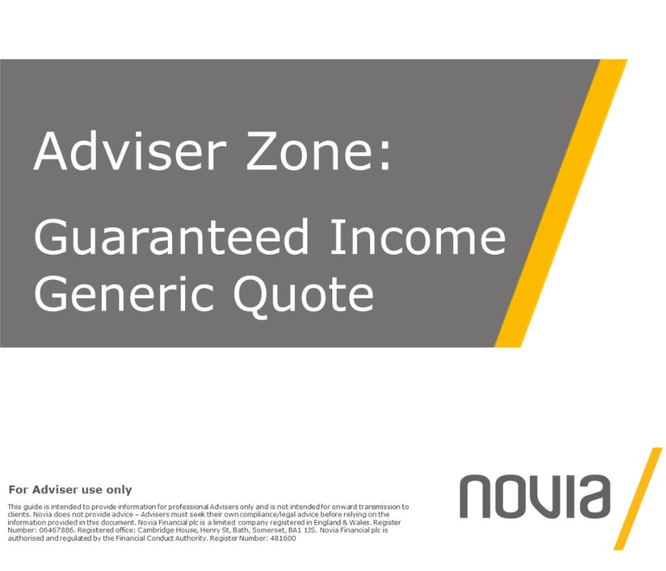 Guaranteed Income Generic Quote