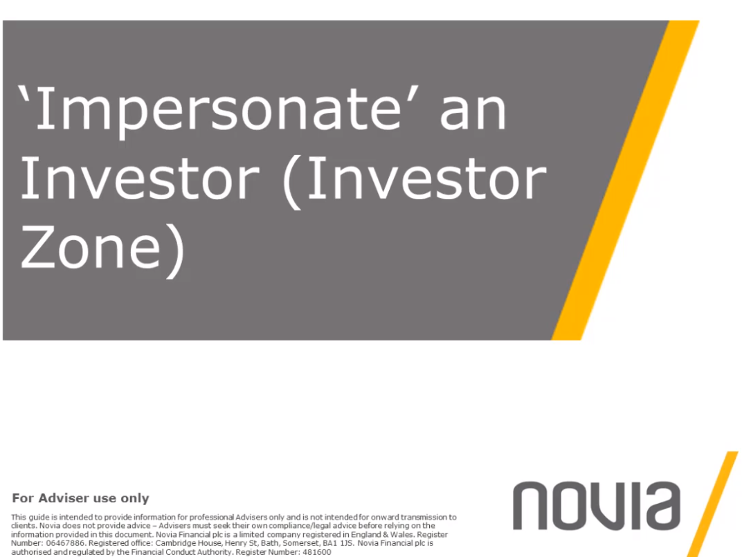 NEW 'Impersonate' an Investor (Investor Zone)
