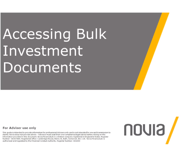 NEW Accessing Bulk Investment Documents