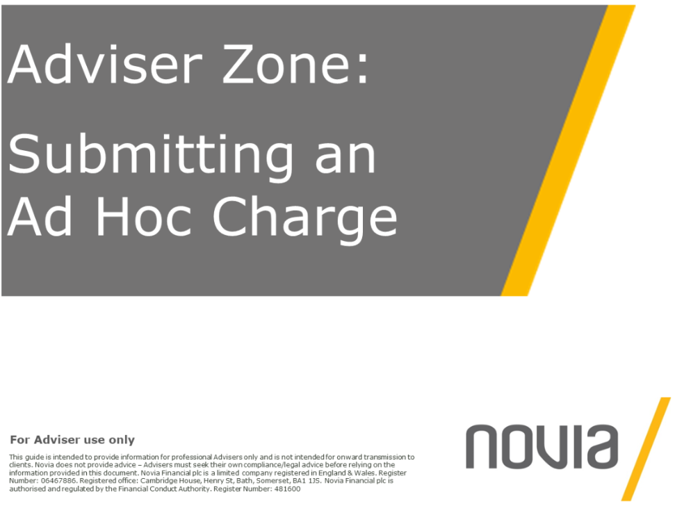 NEW Submitting an Ad Hoc Charge Instruction